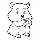 Coloriage Hamster Kawaii.Coloriages A Imprimer Hamster Page 1
