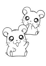 Imprimer le coloriage : Hamster, numéro 676666