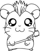 Imprimer le coloriage : Hamster, numéro 843f2f0a