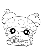 Imprimer le coloriage : Hamster, numéro 9e952607