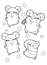 Imprimer le coloriage : Hamster, numéro f8fe794f