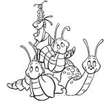 Imprimer le coloriage : Insectes, numéro 142539