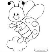 Imprimer le coloriage : Coccinelle, numéro 25693