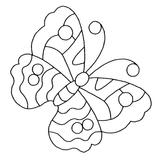 Imprimer le coloriage : Papillon, numéro 24070