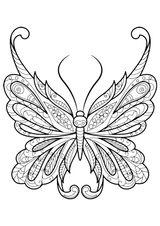 Imprimer le coloriage : Papillon, numéro d129eb9