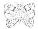Imprimer le coloriage : Papillon, numéro d5407e4b