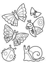 Imprimer le coloriage : Insectes, numéro ec3736cf