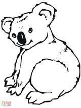 Imprimer le coloriage : Koala, numéro 5e24af27