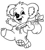 Imprimer le coloriage : Koala, numéro 605845