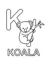 Imprimer le coloriage : Koala, numéro 605f2c7e