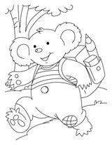 Imprimer le coloriage : Koala, numéro 619772