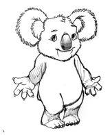 Imprimer le coloriage : Koala, numéro 758800