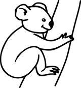 Imprimer le coloriage : Koala, numéro 762d8efe