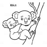 Imprimer le coloriage : Koala, numéro 8f0e19bf
