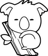 Imprimer le coloriage : Koala, numéro c58923fa