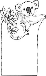 Imprimer le coloriage : Koala, numéro fff8be6f