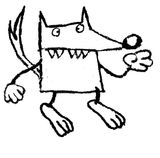 Imprimer le coloriage : Loup, numéro 3999