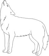 Imprimer le coloriage : Loup, numéro 4010