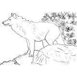 Imprimer le coloriage : Loup, numéro 451