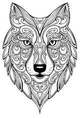 Imprimer le coloriage : Loup, numéro 4d301e8f