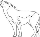 Imprimer le coloriage : Loup, numéro 8ae19ddc