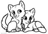 Imprimer le coloriage : Loup, numéro f3c4d75a