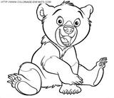 Imprimer le coloriage : Ours, numéro 3665