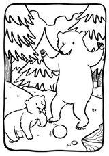 Imprimer le coloriage : Ours, numéro 4c3a07b5
