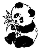 Imprimer le coloriage : Panda, numéro 114489
