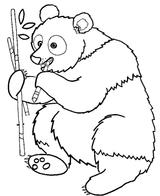 Imprimer le coloriage : Panda, numéro 253926