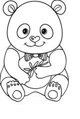 Imprimer le coloriage : Panda, numéro 3946da9a