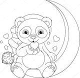 Imprimer le coloriage : Panda, numéro 64386fb9