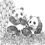 Imprimer le coloriage : Panda, numéro 6ee86fe6