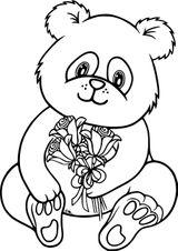 Imprimer le coloriage : Panda, numéro 7ea457dc