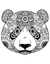 Imprimer le coloriage : Panda, numéro c79290fe