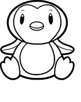 Imprimer le coloriage : Pinguoin, numéro 158e0350