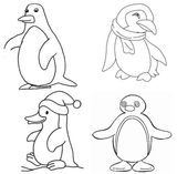 Imprimer le coloriage : Pinguoin, numéro 619688