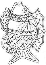 Imprimer le coloriage : Poisson, numéro 16802