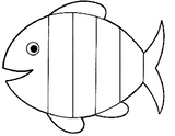 Imprimer le coloriage : Poisson, numéro 220875