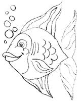 Imprimer le coloriage : Poisson, numéro 4074