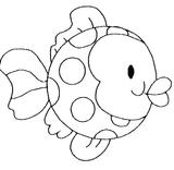 Imprimer le coloriage : Poisson, numéro 4075