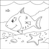 Imprimer le coloriage : Poisson, numéro 7848