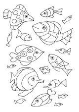 Imprimer le coloriage : Poisson, numéro fb64750e