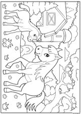 Imprimer le coloriage : Poney, numéro 1a3f1b2
