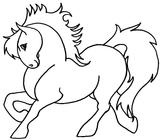Imprimer le coloriage : Poney, numéro 3441