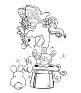 Imprimer le coloriage : Poney, numéro 3462