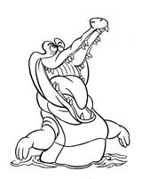 Imprimer le coloriage : Crocodile, numéro 227196