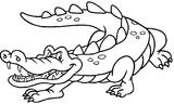 Imprimer le coloriage : Crocodile, numéro 23990