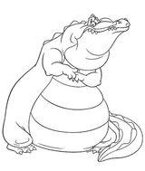 Imprimer le coloriage : Crocodile, numéro 23993