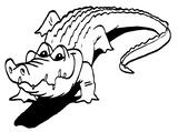 Imprimer le coloriage : Crocodile, numéro 25814